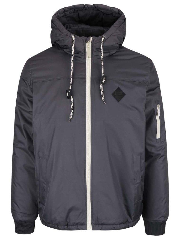 Jachetă gri Blend cu fermoar și glugă