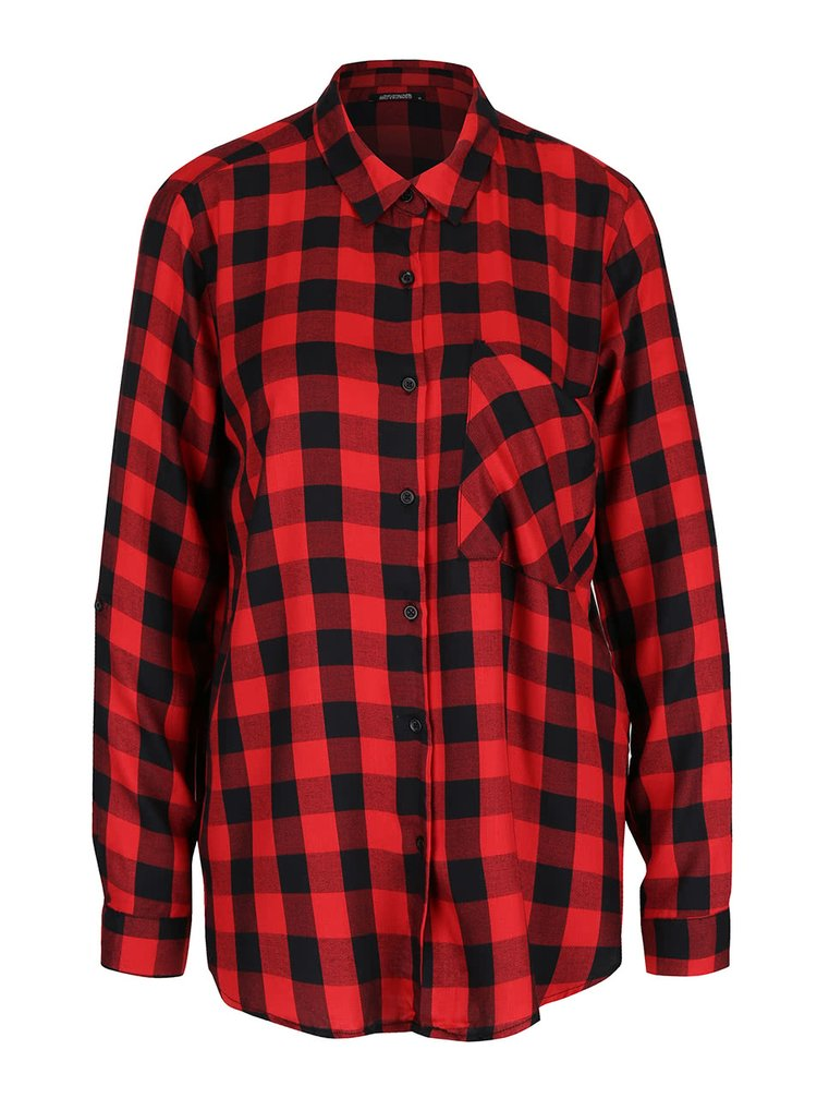 Červeno-čierna kockovaná košeľa Haily's Alina
