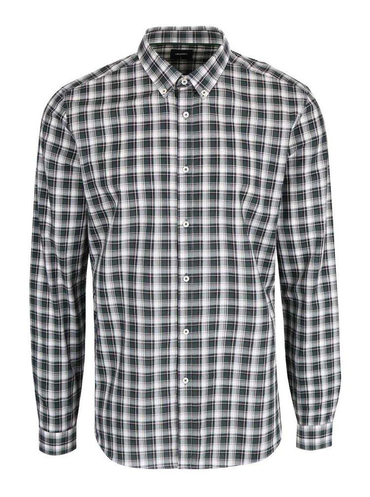 Tmavě zelená kostkovaná košile Burton Menswear London