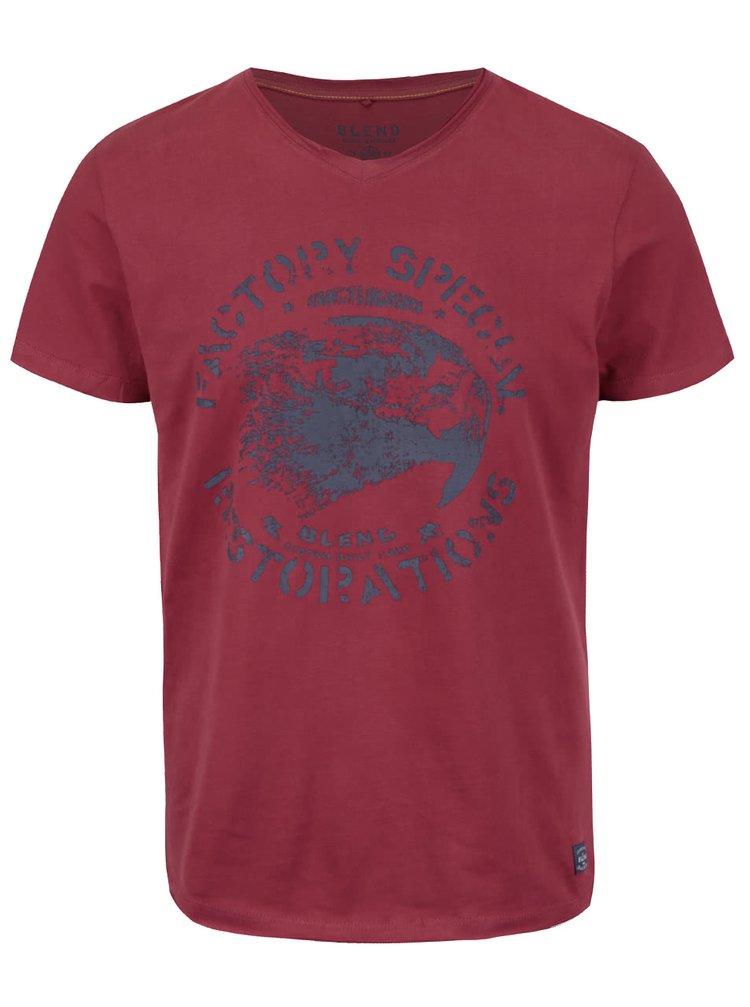 Vínové tričko s potlačou Blend