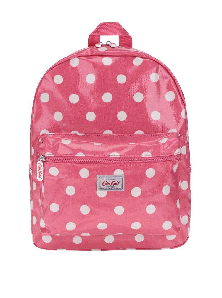 Ružový dievčenský batoh s bielymi bodkami Cath Kidston