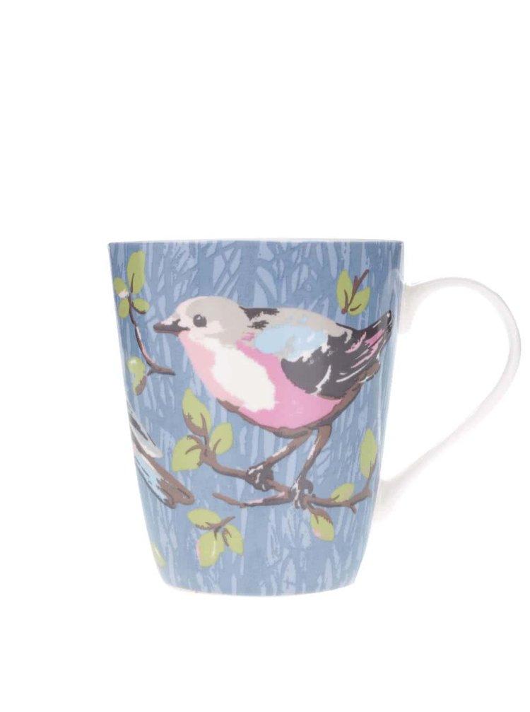 Modrý hrnček s vtáčikmi Cath Kidston
