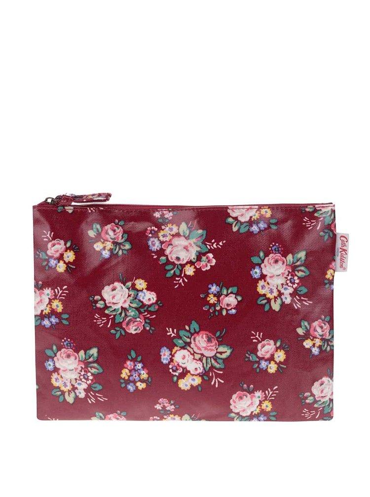 Červená väčšia taštička s kvetmi Cath Kidston