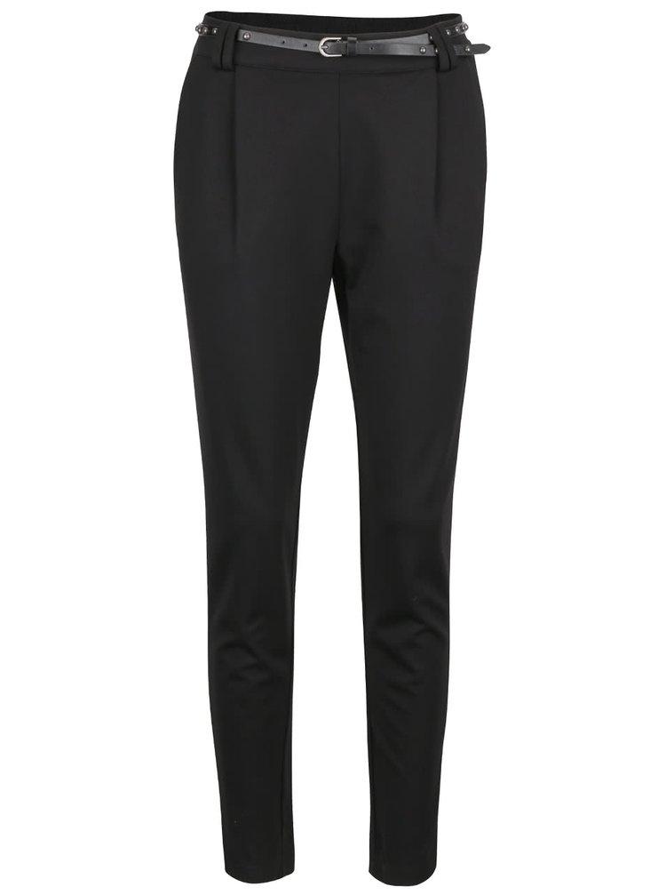 Černé teplákové kalhoty s páskem VERO MODA Kelly