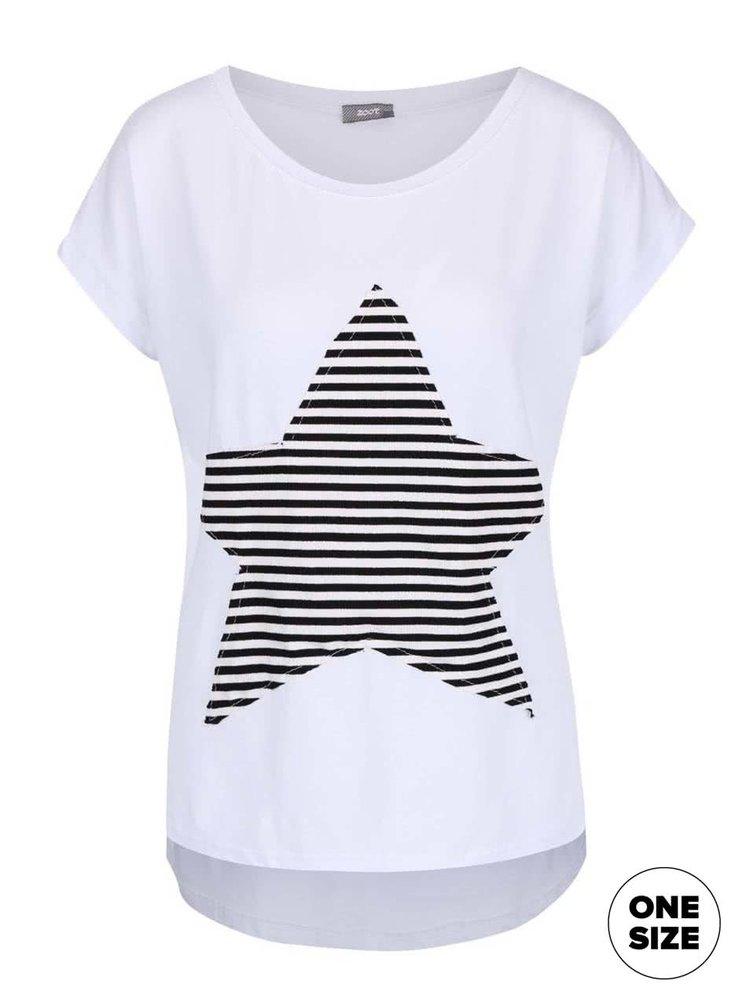 Tricou alb ZOOT simple cu aplicație
