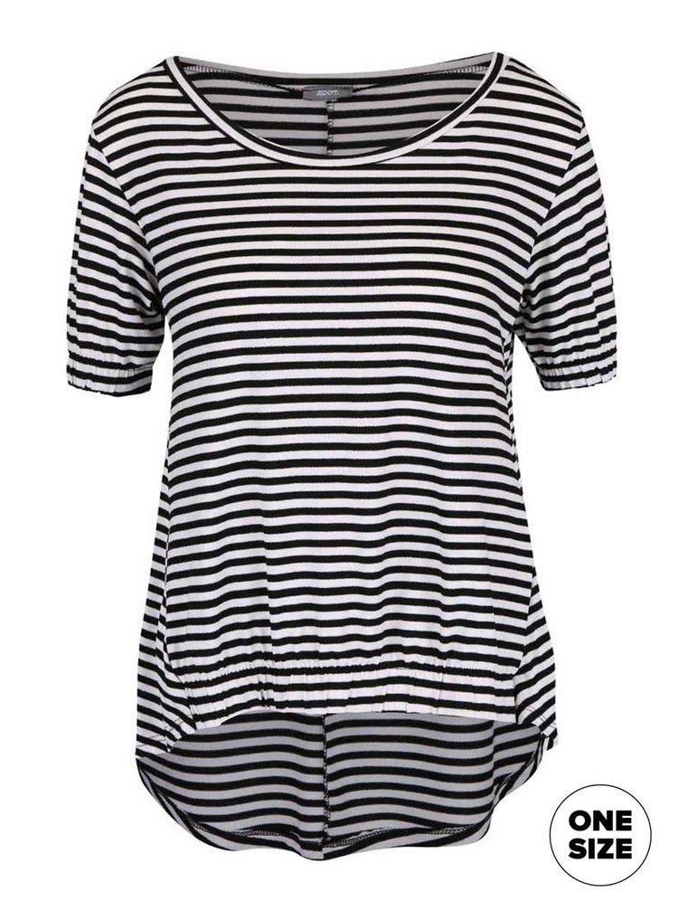 Bílo-černé pruhované volnější  tričko ZOOT simple