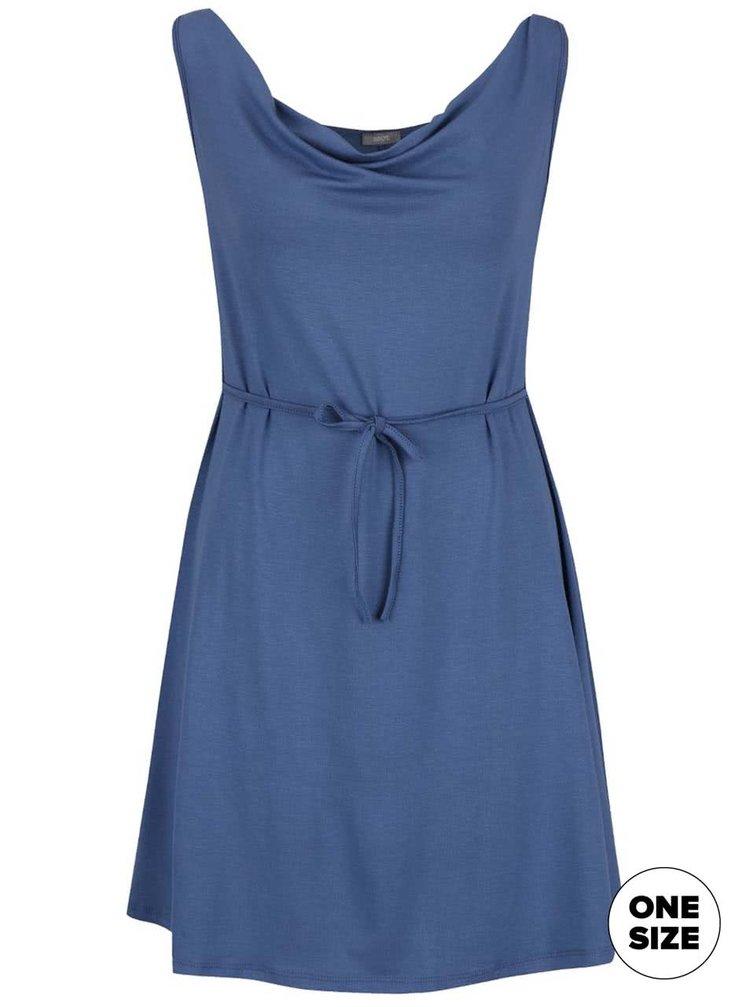 Rochie albastră ZOOT cu șnur în talie