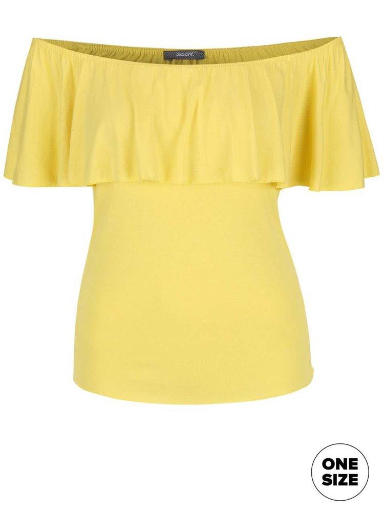 Žlté tričko s odhalenými ramenami ZOOT simple