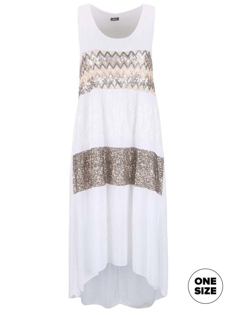 Biele šaty ozdobené flitrami ZOOT Now