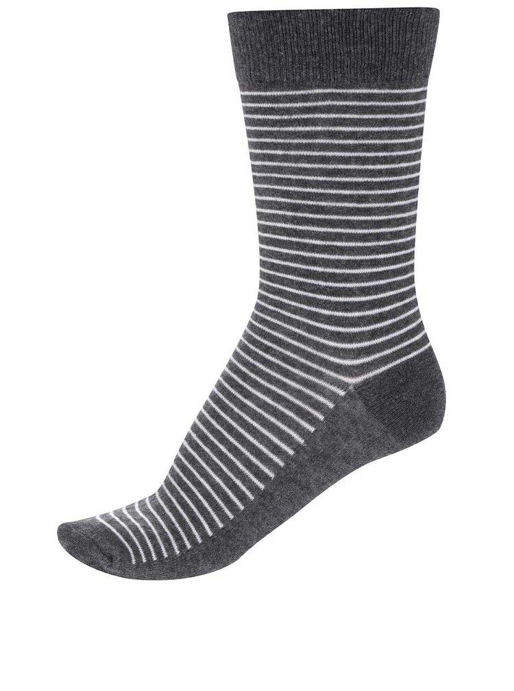 Šedé pruhované ponožky Jack & Jones Digger