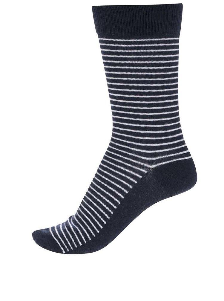 Tmavomodré pruhované ponožky Jack & Jones Digger