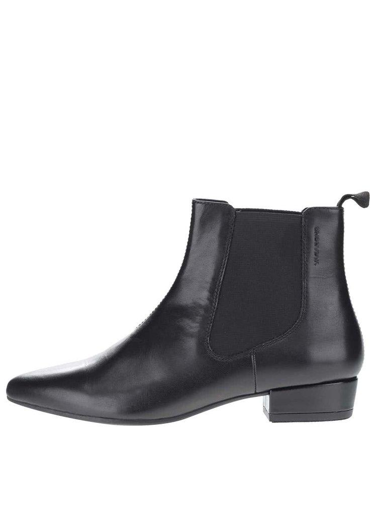 Černé dámské kožené chelsea boty Vagabond Sarah