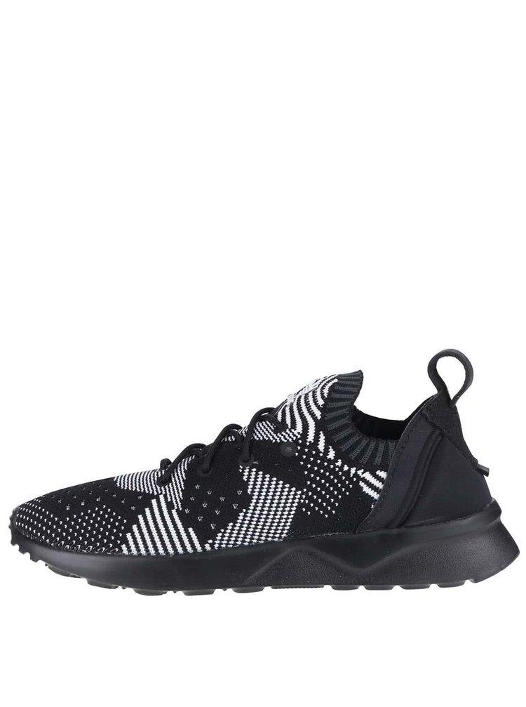 Bielo-čierne dámske vzorované tenisky adidas Originals ZX Flux