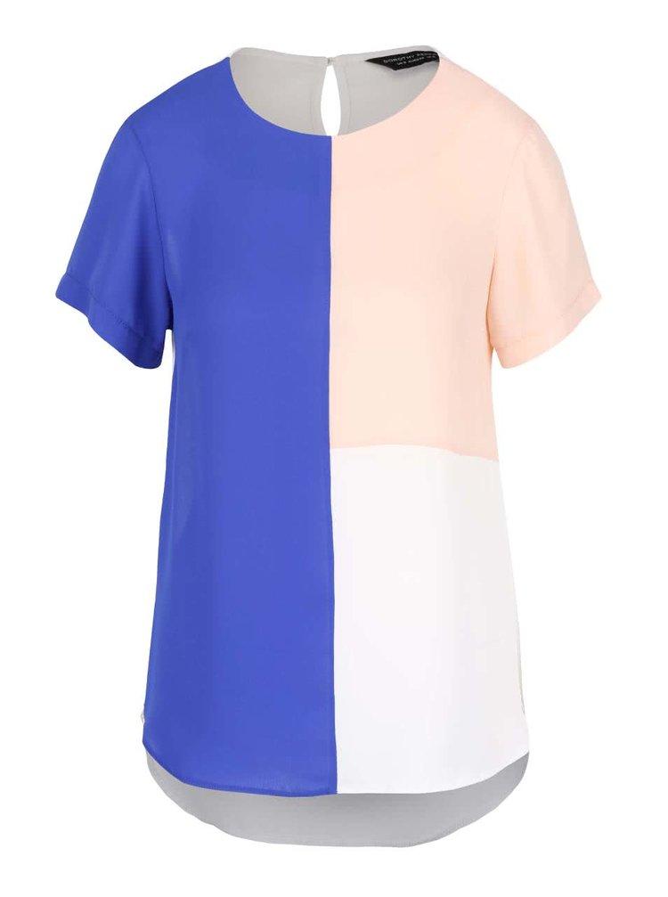 Bluză colorată Dorothy Perkins cu mâneci scurte