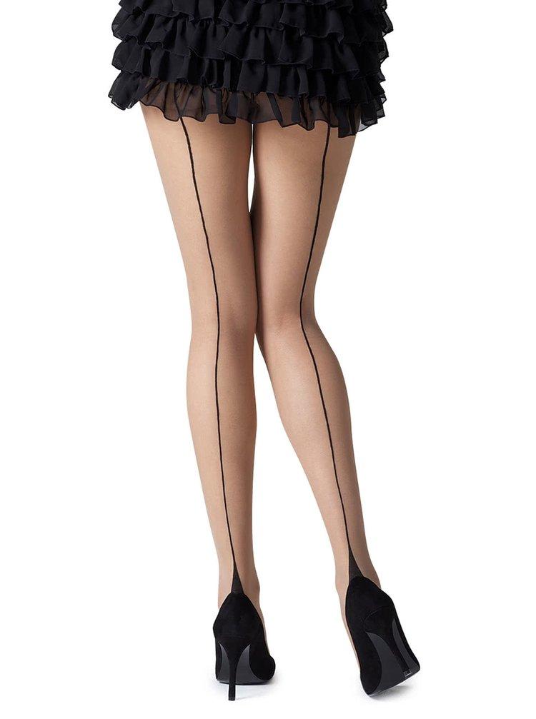 Tělové punčochové kalhoty s černým proužkem Gipsy