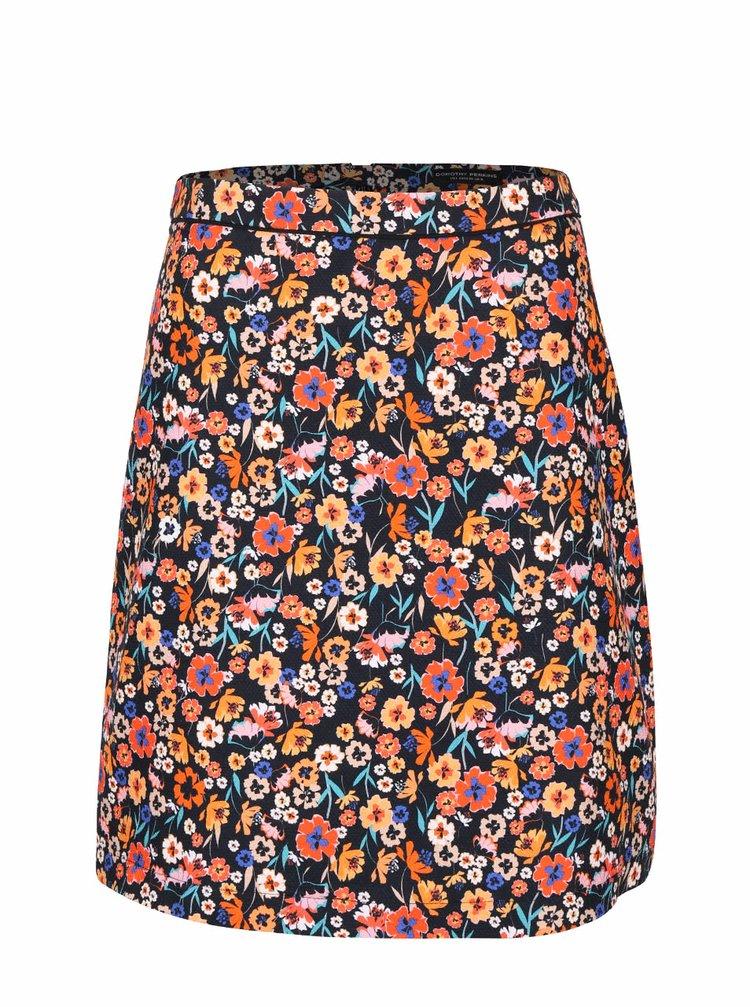 Černá sukně s květovaným vzorem Dorothy Perkins