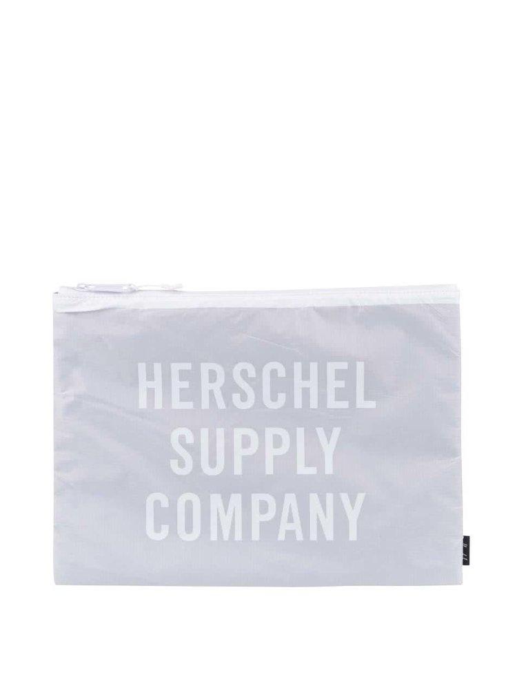 Šedé unisex pouzdro na zip Herschel Network XL