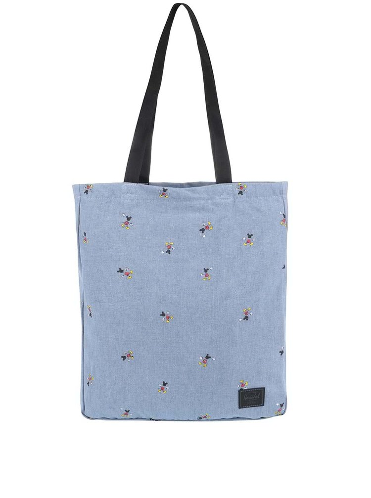 Modrá taška přes rameno s potiskem Mickey Mouse Herschel Travel Tote