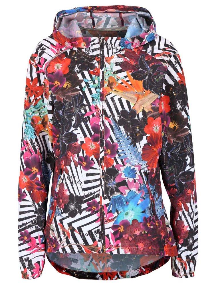 Jachetă colorată Desigual Sport Chaq cu glugă