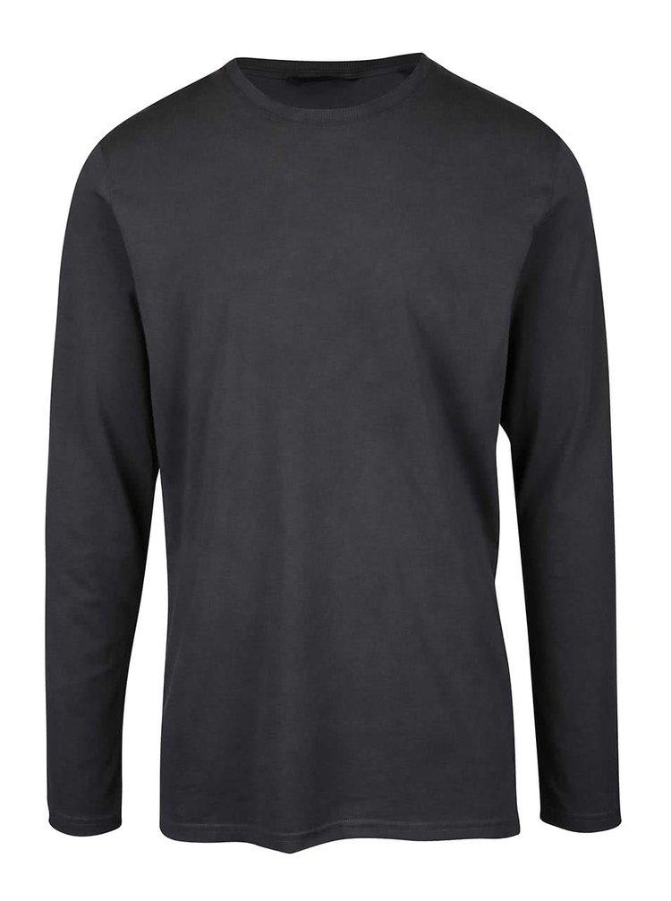 Tmavosivé tričko s dlhým rukávom ONLY & SONS Kenny