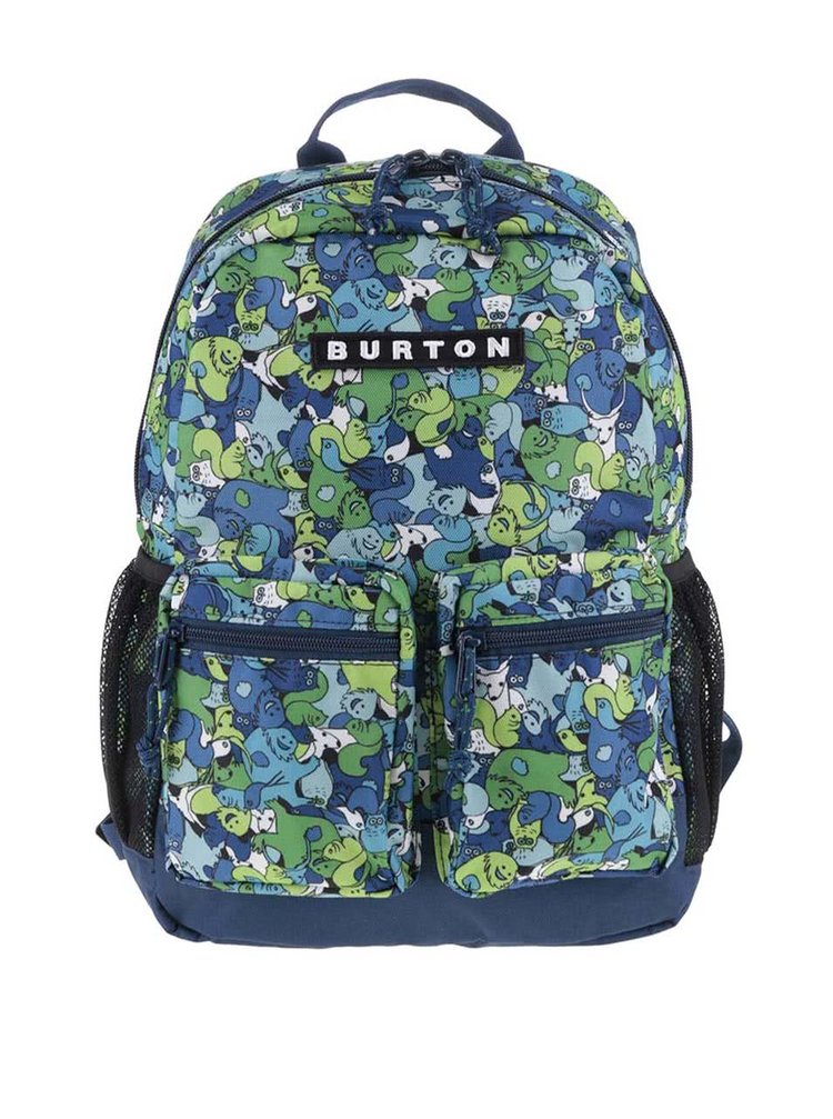 Modro-zelený klučičí vzorovaný batoh Burton Gromlet