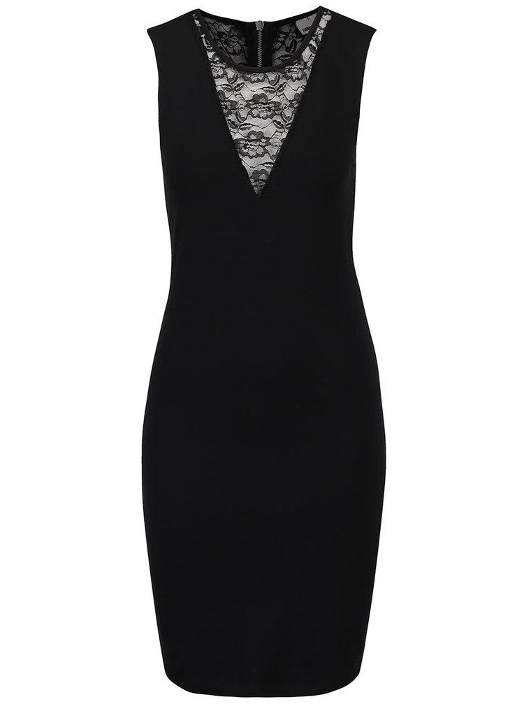 Čierne šaty s čipkou Noisy May Kelly