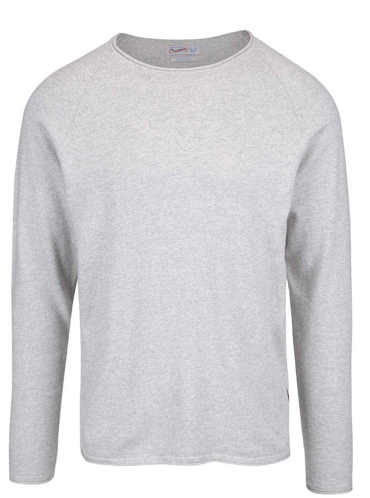 Sivý melírovaný sveter Jack & Jones Lake
