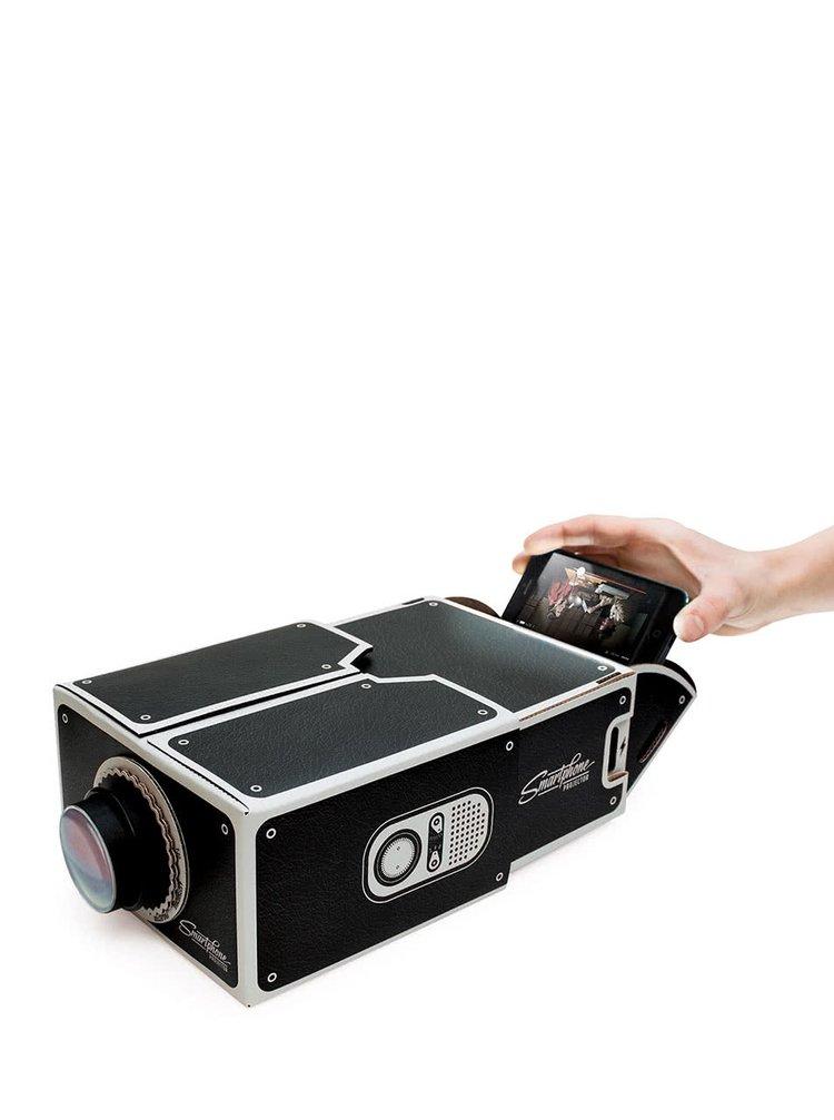 Černý projektor ke smartphonu Luckies