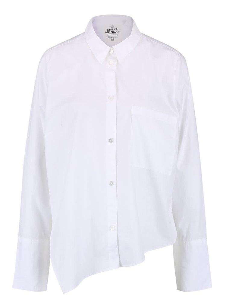 Bílá dámská oversize asymetrická košile Cheap Monday Force
