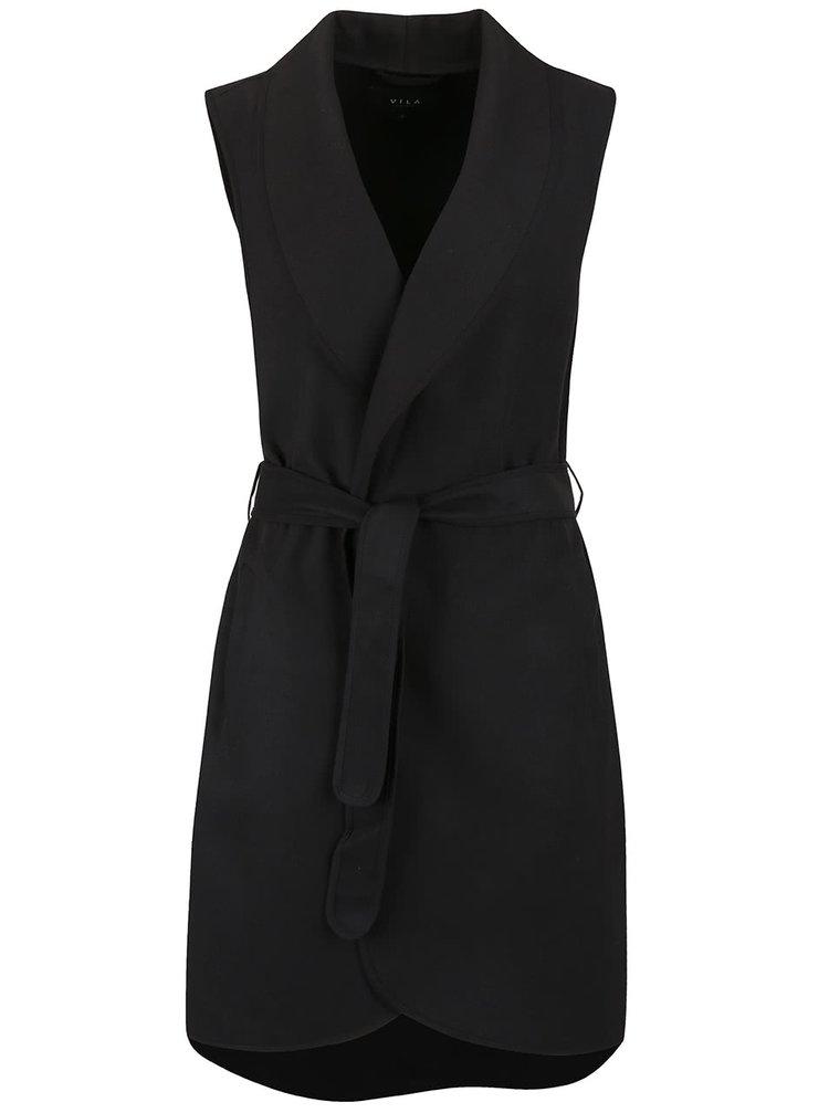 Čierna kabátová vesta VILA Ida