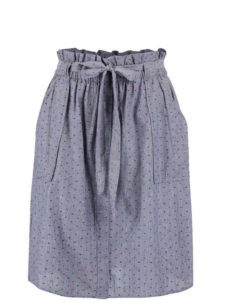 Sivomodrá sukňa s opaskom a vreckami VILA Dotta