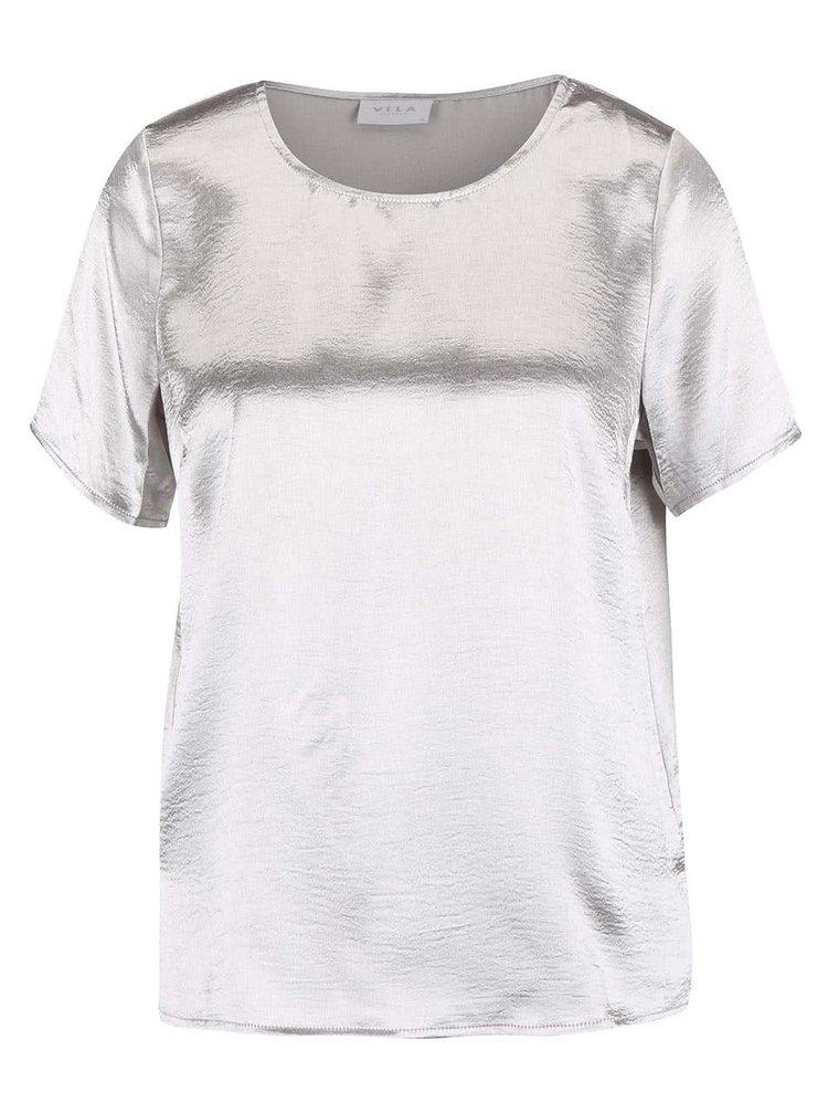 Tricou argintiu VILA Aqua