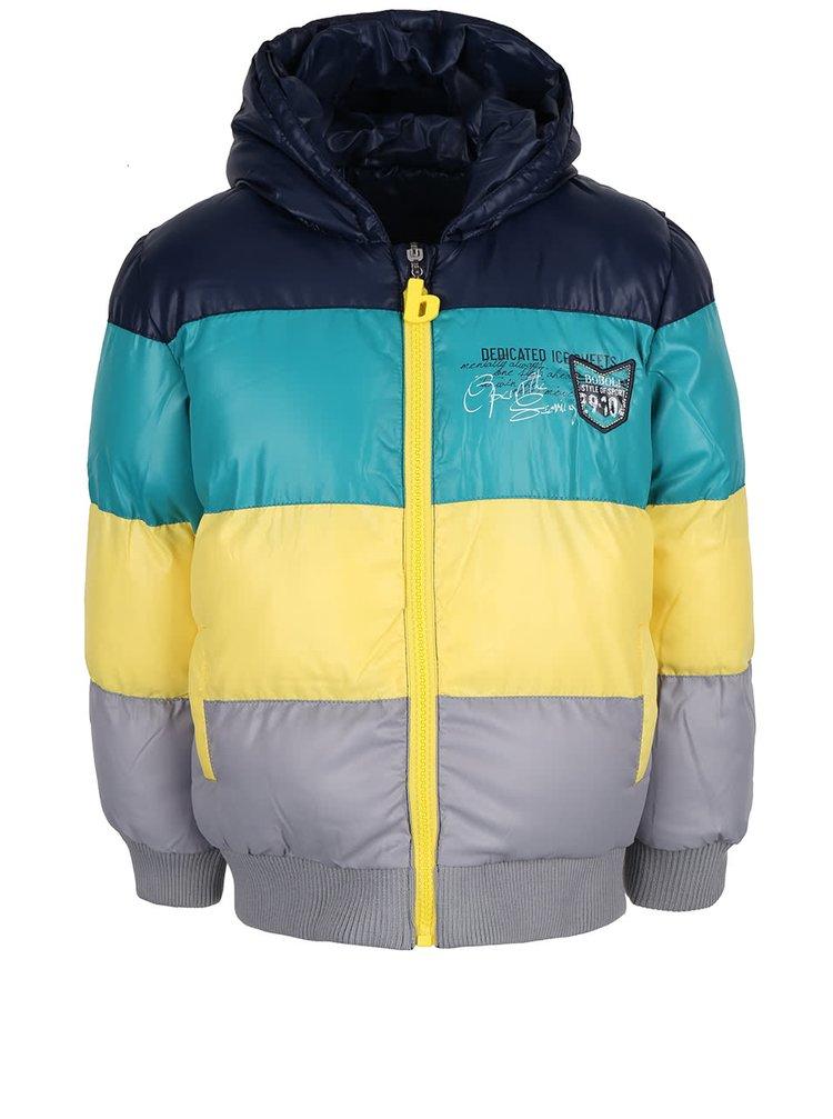 Modrá chlapčenská obojstranná bunda Bóboli