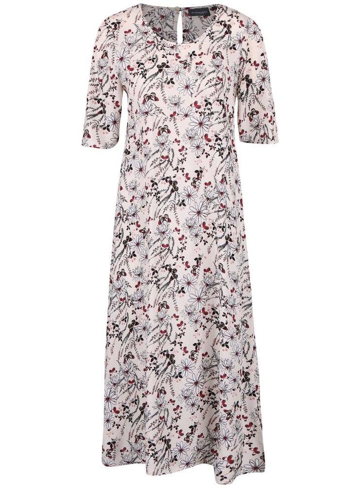 Krémové kvetované šaty Broadway Ouida