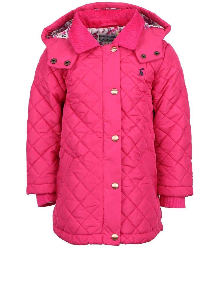 Růžová holčičí prošívaná bunda Tom Joule Marcotte
