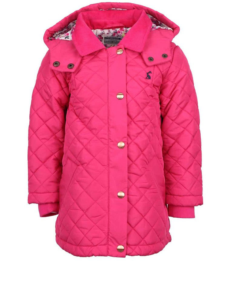 Ružová dievčenská prešívaná bunda Tom Joule Marcotte