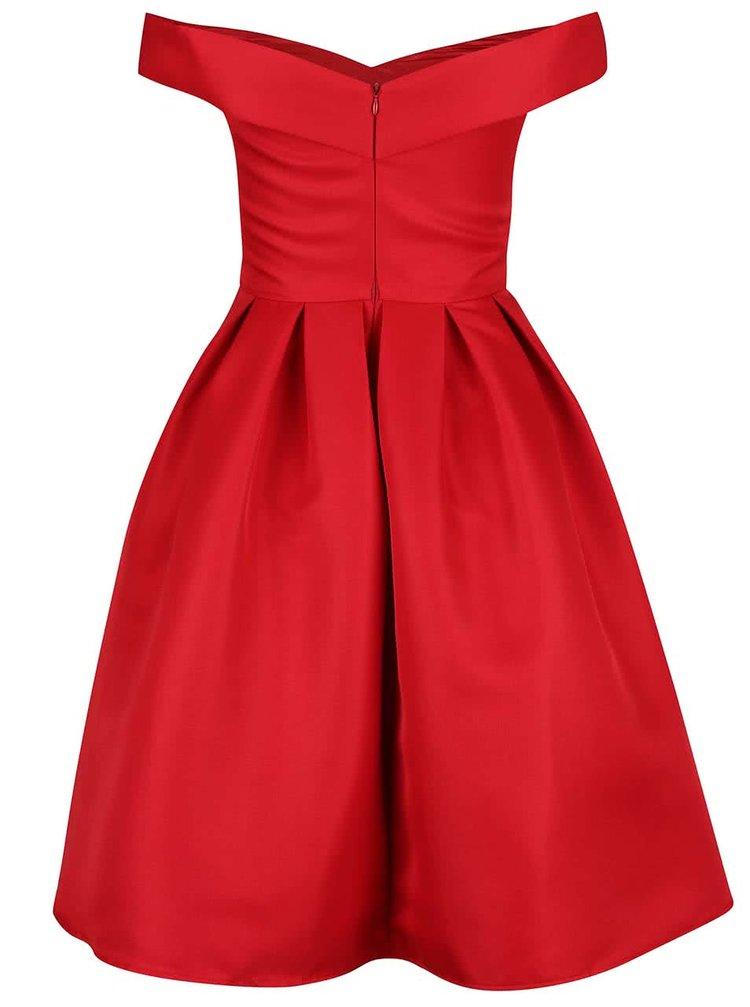 41ae9595b27b ... Červené šaty se spadlými rameny Chi Chi London Jade
