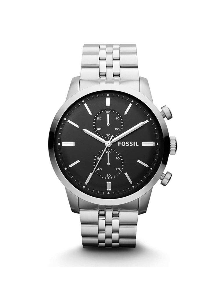 Pánské hodinky ve stříbrné barvě s nerezovým páskem Fossil