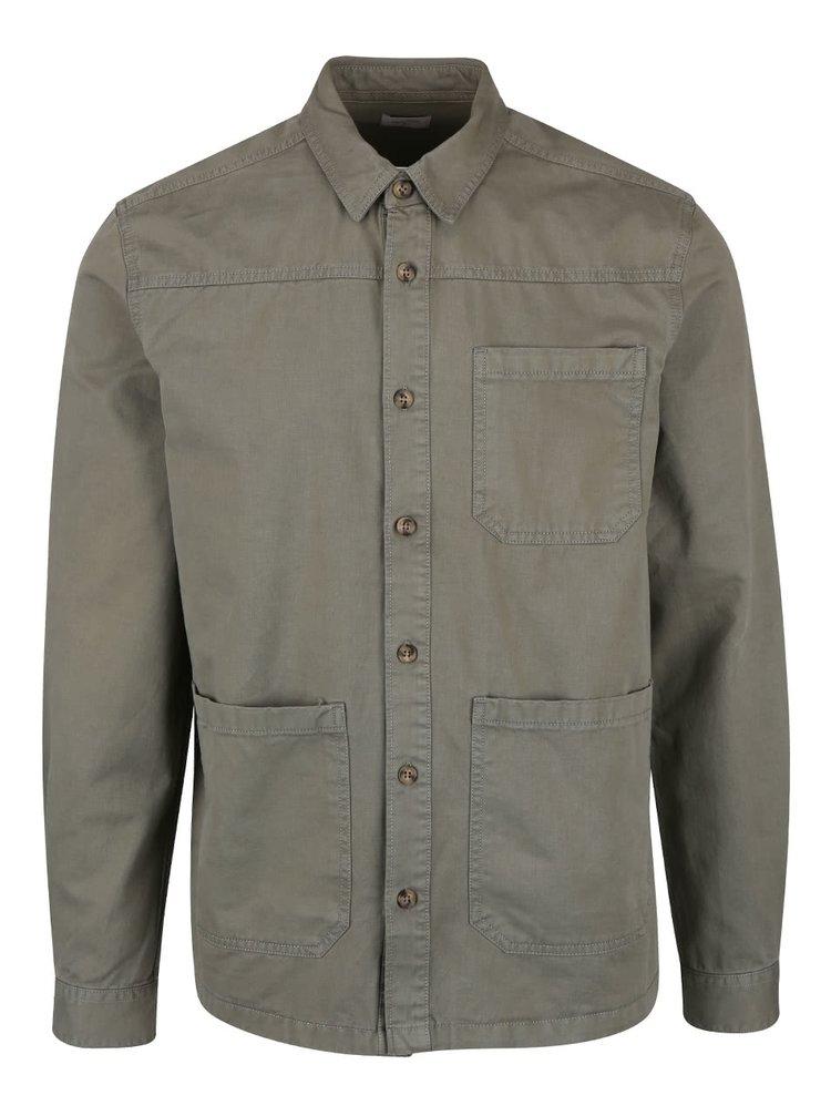 Jachetă kaki Burton Menswear London din bumbac