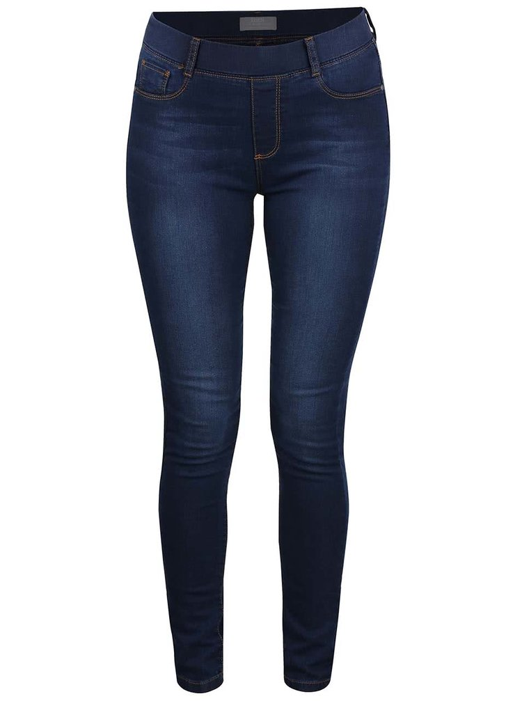 Tmavomodré vyšúchané ultra soft jeggings Dorothy Perkins
