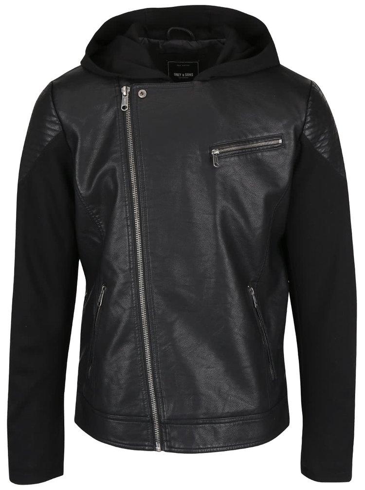 Jachetă neagră ONLY & SONS