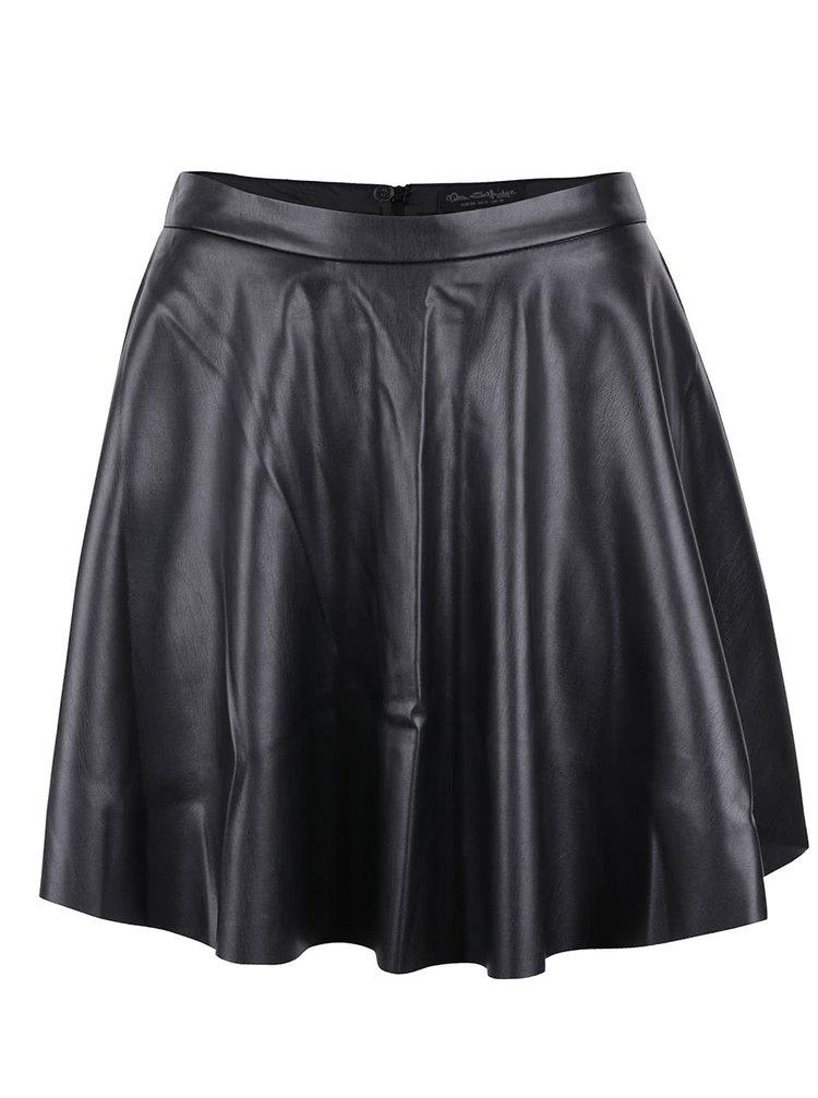 Černá koženková sukně Miss Selfridge