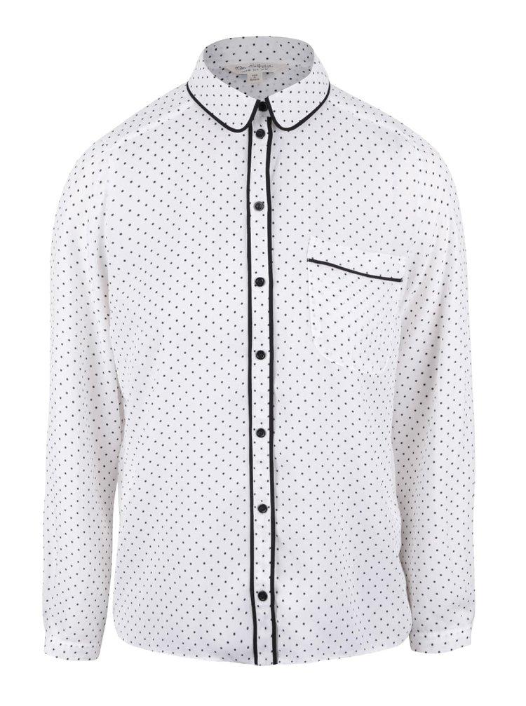 Krémová puntíkovaná košile Miss Selfridge