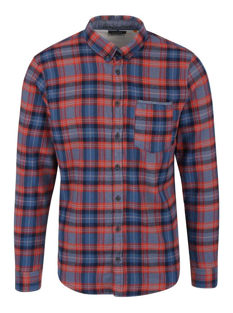 Červeno-modrá kostkovaná košile Blend