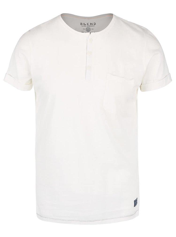 Krémové triko s kapsou Blend