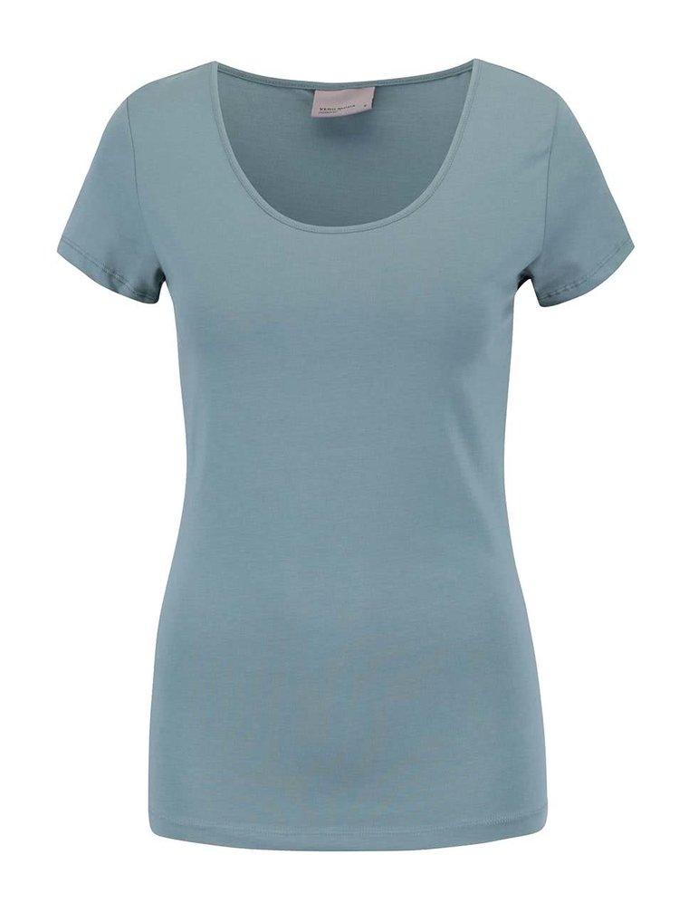 Modrozelené tričko s krátkým rukávem VERO MODA Maxi My