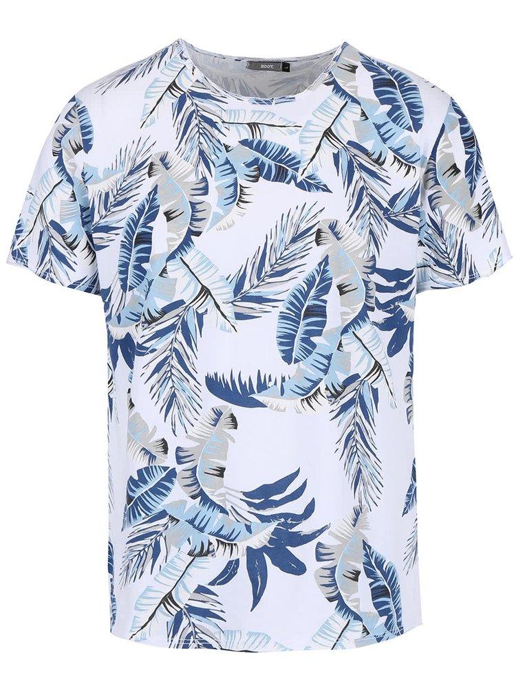 Tricou alb ZOOT cu imprimeu tropical