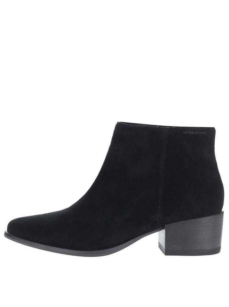 Černé dámské semišové kotníkové boty Vagabond Marja