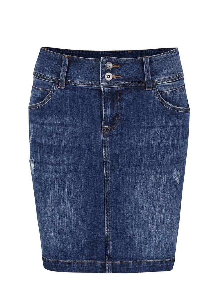 Modrá dámská džínová sukně s.Oliver
