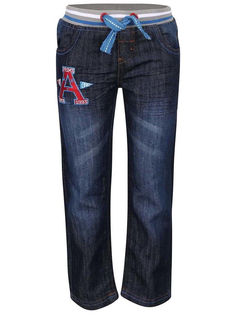 Tmavomodré chlapčenské rifľové nohavice s gumou 5.10.15.